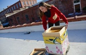 Leigh-Kathryn Bonner's vision is for Durham to become the model for urban beekeeping.