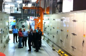Meeting attendees toured NC State's Cates Utility Plant, which features combined heat and power technology.