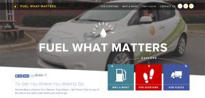 At the center of the campaign is a dedicated microsite, FuelWhatMatters.org