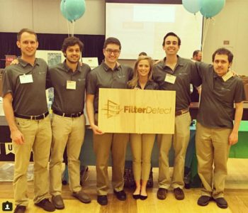 The FilterDetect team at the LuLu eGames. Photo courtesy of FilterDetect