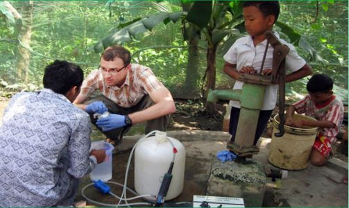 Dr. Matt Polizzotto conducts research in southeast Asian countries such as Cambodia.