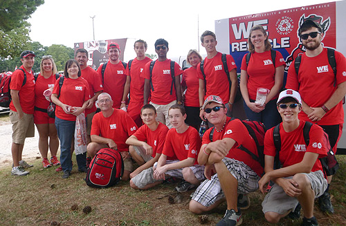 Wolfpack football's tailgate recycling program underway for 2014 season