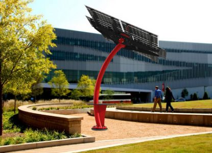 A rendering of the solar structure in its final location near James B. Hunt Jr. Library on NC State's campus.
