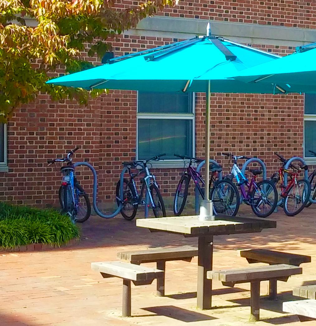 New Solar Umbrellas Power Outdoor Study Spot