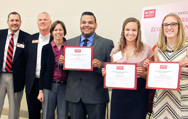 Students Honored For Undergraduate Sustainability Research