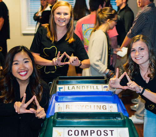 Fraternities, Sororities Boost Sustainability At Events