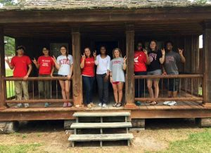 Part of the students' experience with the Lumbee Tribe included a visit to the Indian Cultural Center.
