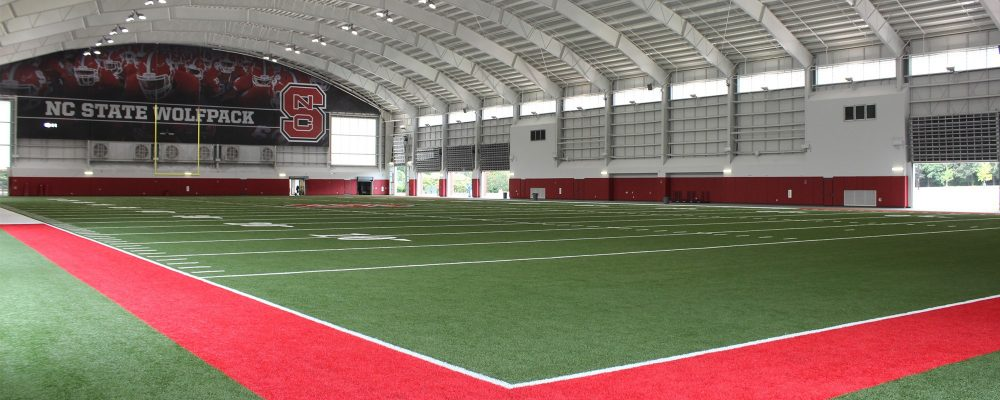 NC State Indoor Practice Facility Earns Sustainability Certification