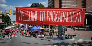 Reusable signage is just one of the ways Packapalooza strives for sustainability in event planning.