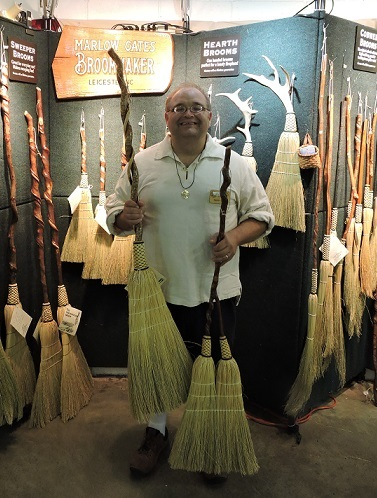 Marlow Gates turns brooms into hand-crafted works of art