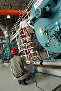 Energy audits are periodically conducted on boilers, chillers and other equipment.