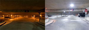 Installation of LED lights in an NC State parking garage improved both energy efficiency and safety.