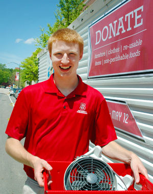 Student efforts helped divert one third of all discarded material during move out from landfills and to recycling centers or local nonprofits for reuse.