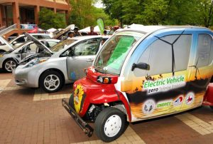 More than a dozen alternative energy vehicles will be on display on Oct. 2.