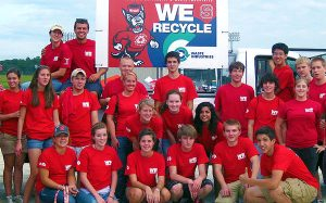 Honors Village students are among many student groups who volunteer for WE Recycle.